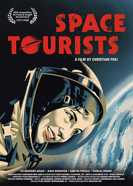 Vintage Space Tourists Movie Poster