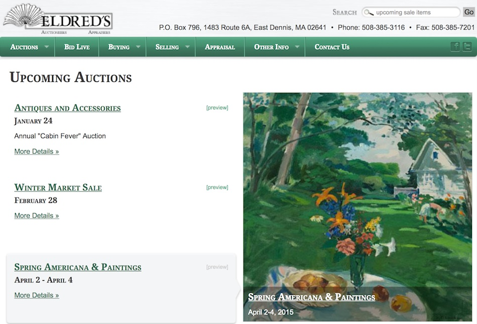 Eldred's Auction